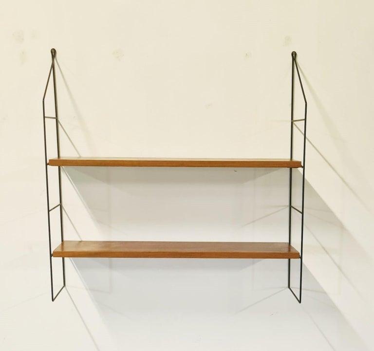 Scandinavian Modern Vintage String Book Shelves, 1960s