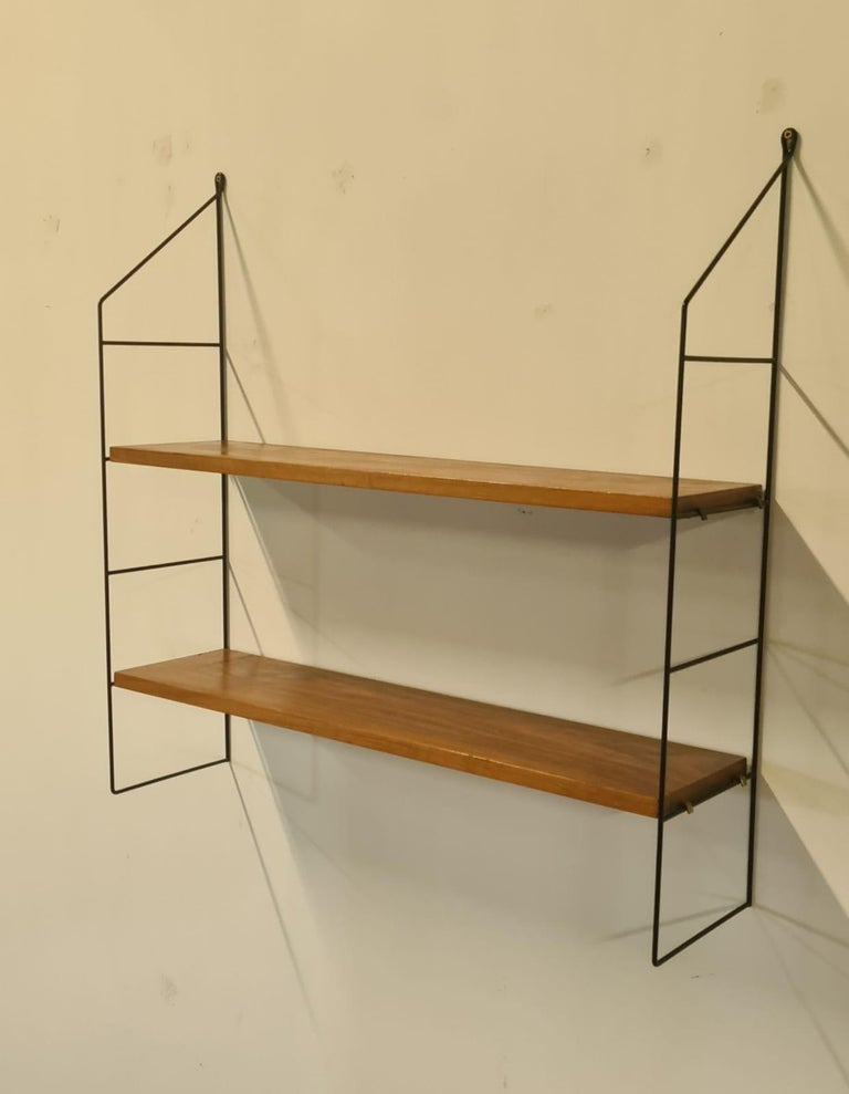Vintage String Book Shelves, 1960s In Good Condition In Ottenburg, BE