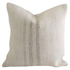 Vintage Stripe Hemp Turkish Rug Pillow