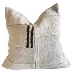 Vintage Stripe Patchwork Turkish Rug Pillow