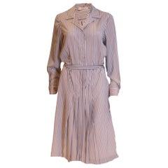 Vintage Stripe Shirtwaister by J Tiktiner France
