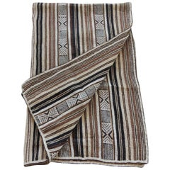 Vintage Stripes and Tribal Design Woven Throw
