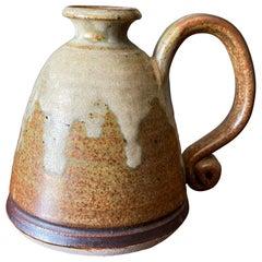Vintage Studio Crafted Ceramic Oil Lamp, circa 1970s