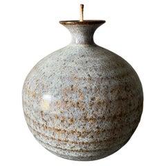 Vintage Studio Crafted Oil Lamp Vase, circa 1970s
