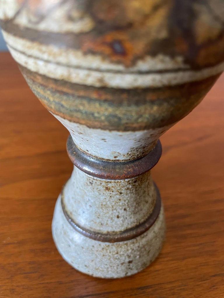 20th Century Vintage Studio Crafted Wine Chalice, circa 1970s For Sale