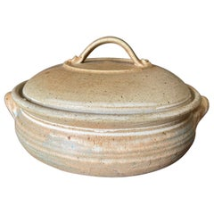 Vintage Studio Pottery Lidded Ceramic, circa 1970s