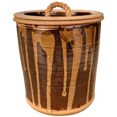 Vintage Studio Pottery Lidded Jar