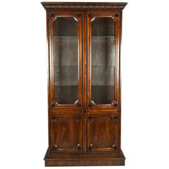 Vintage Study Room or Bookcase Vitrine Display Cabinet