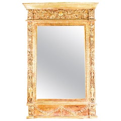 Vintage Stunning Large Ornate Italian Gilded Mirror