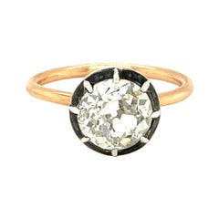 Vintage Style 18 Karat Rose Gold 1.68 Carat Old European Cut Diamond Ring