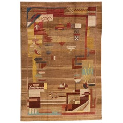 Vintage Style Art Deco Style Rug