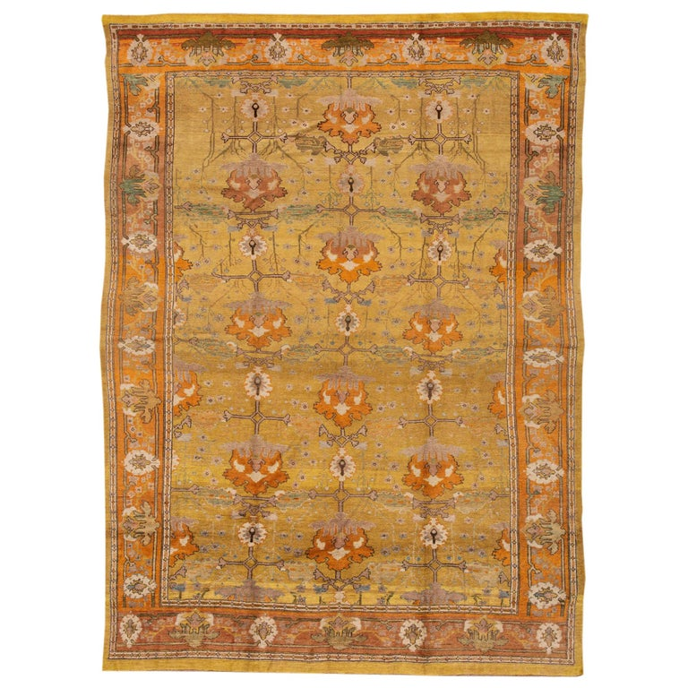 Antique Arts And Crafts Rugs: Vintage Style Donegal Arts And Crafts Rug For Sale At 1stdibs