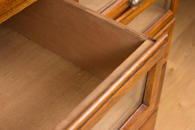 Vintage Style Oak Haberdashers Cabinet For Sale At 1stdibs