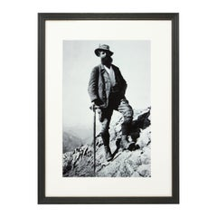 Vintage Style Photography, Framed Alpine Ski Photograph, Bavarian Guide