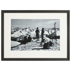 Vintage Style Photography, Framed Alpine Ski Photograph, Davos, Parsenn