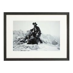 Vintage Style Photography, Framed Alpine Ski Photograph, on The Alpspitze