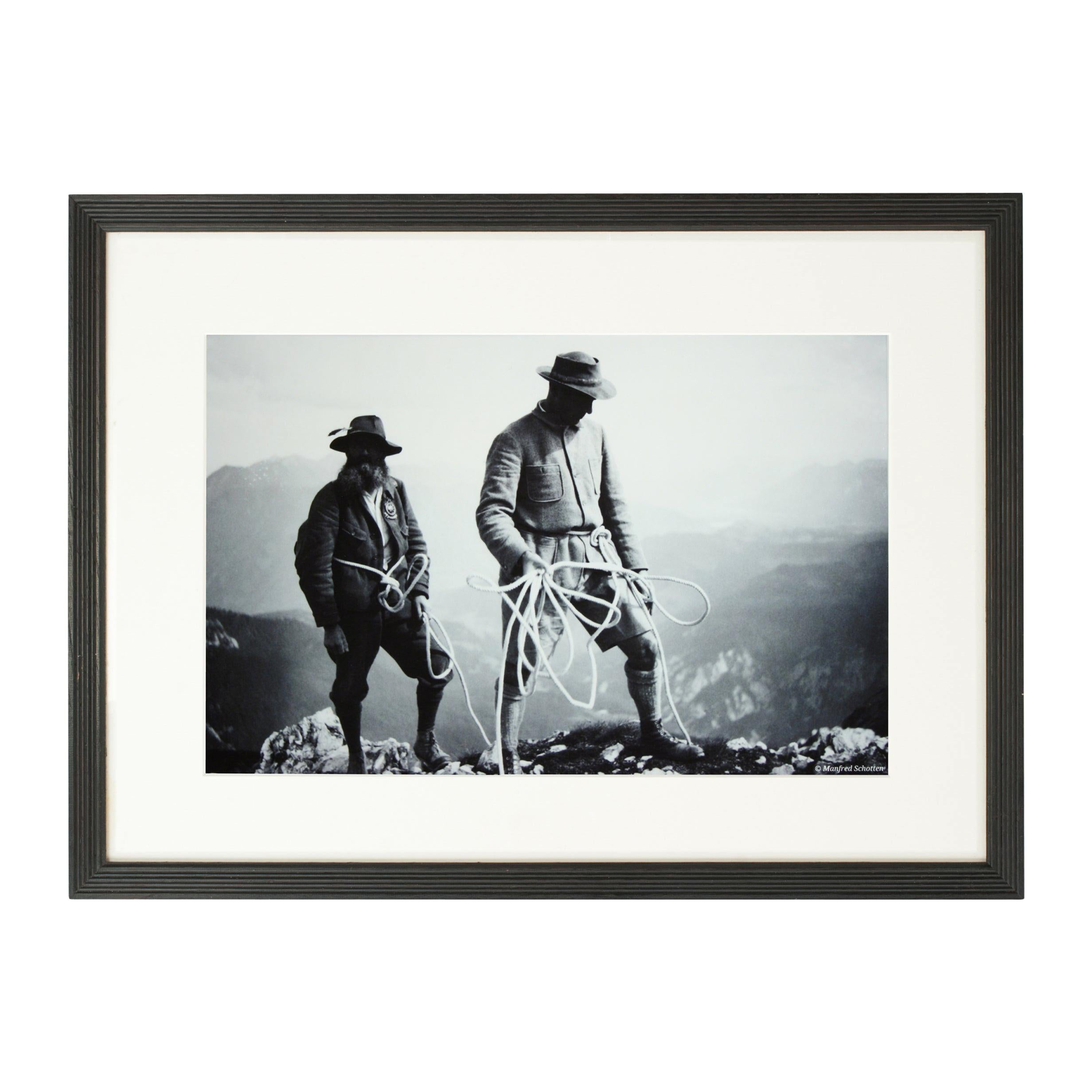 Vintage Style Photography, Framed Alpine Ski Photograph, Safety First