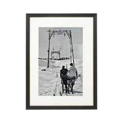 Vintage Style Photography, Framed Alpine Ski Photograph, The Lift