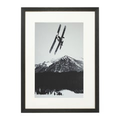 Vintage Style Photography, Framed Alpine Ski Photograph, The Race