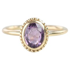 Vintage Style Purple Spinal Dainty Ring