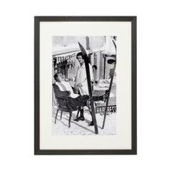 Vintage Style Ski Photography, Framed Alpine Ski Photograph, Haircut Sir