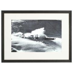 Vintage Style Ski Photography, Framed Alpine Ski Photograph, Nose Dive