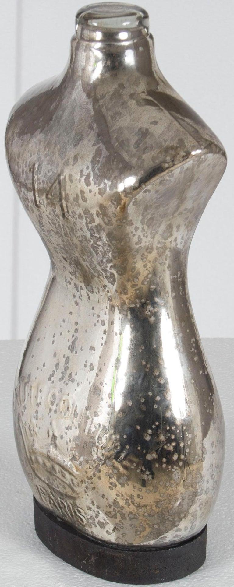 Vintage Style Small Glass Decorative Mannequin Statue In New Condition For Sale In Atlanta, GA