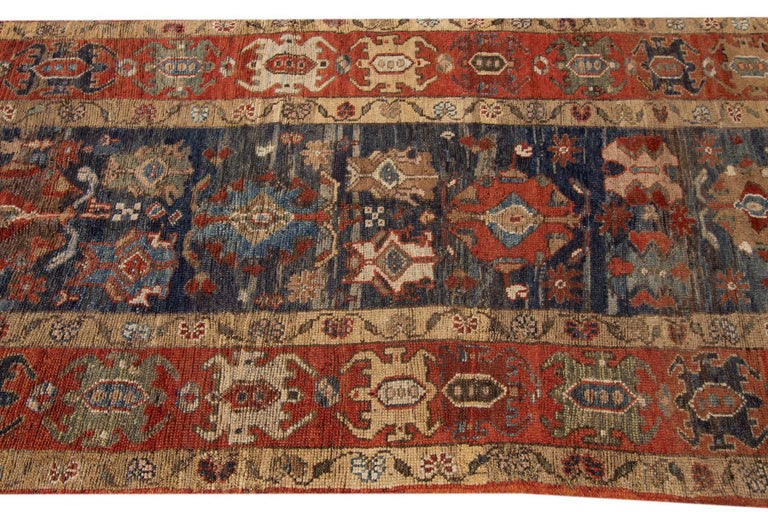 Mid-20th Century Vintage Persian Tribal Bakshaish Rug For Sale 3