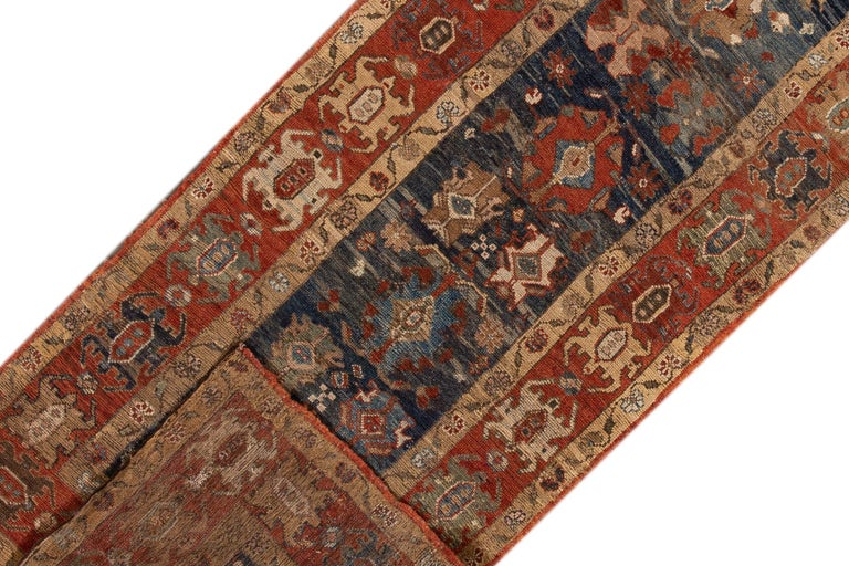 Hand-Knotted Mid-20th Century Vintage Persian Tribal Bakshaish Rug For Sale