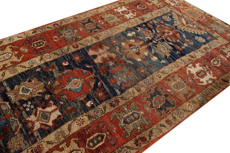 Mid-20th Century Vintage Persian Tribal Bakshaish Rug For Sale 4