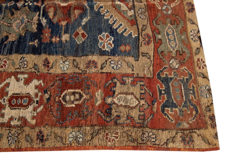 Mid-20th Century Vintage Persian Tribal Bakshaish Rug In Good Condition For Sale In Norwalk, CT