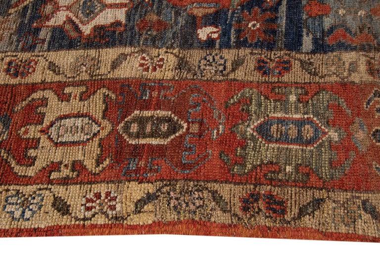 Contemporary Mid-20th Century Vintage Persian Tribal Bakshaish Rug For Sale