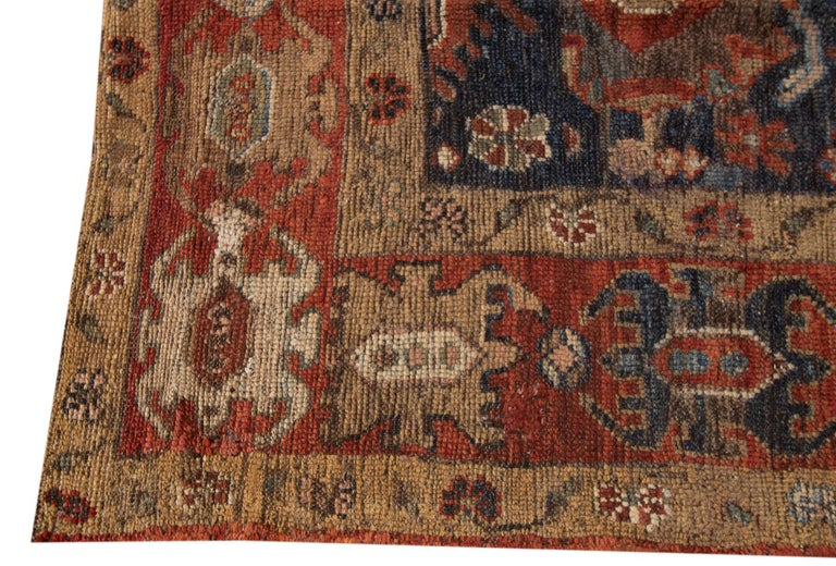 Mid-20th Century Vintage Persian Tribal Bakshaish Rug For Sale 1