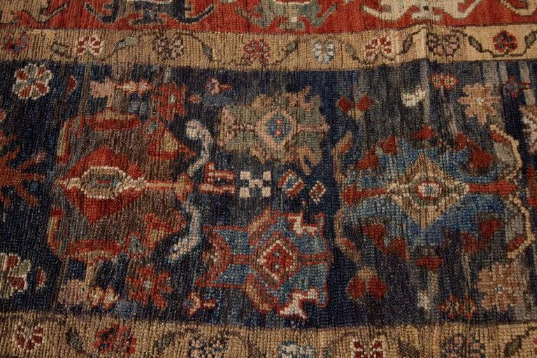 Mid-20th Century Vintage Persian Tribal Bakshaish Rug For Sale 2