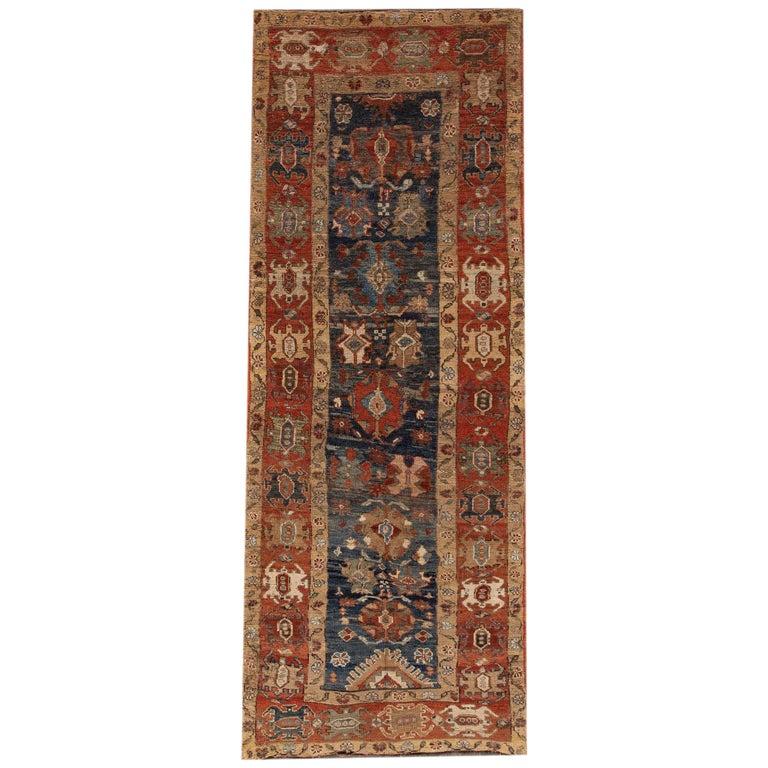 Mid-20th Century Vintage Persian Tribal Bakshaish Rug For Sale