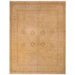 Vintage Sultanabad Style Rug Beige Brown Persian Pattern by Rug & Kilim