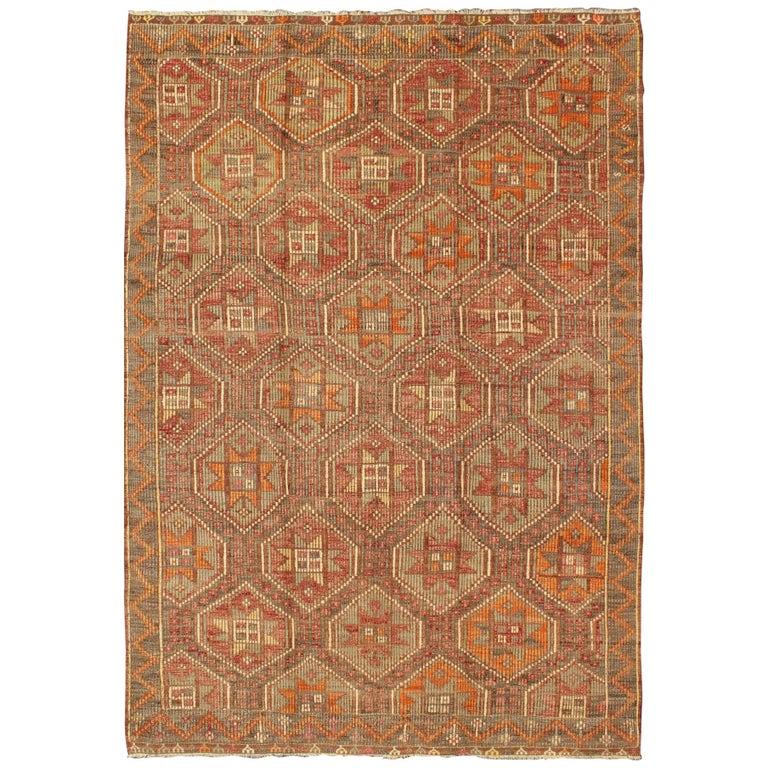 Sumak kilim rug, 1950, offered by Keivan Woven Arts