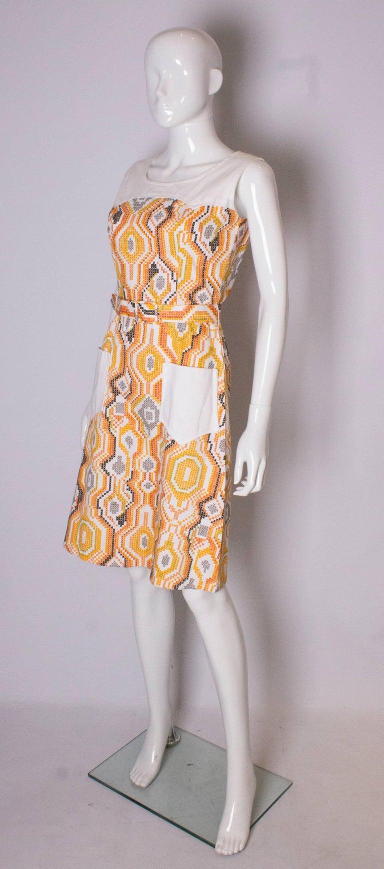 Beige Vintage Summer Dress For Sale