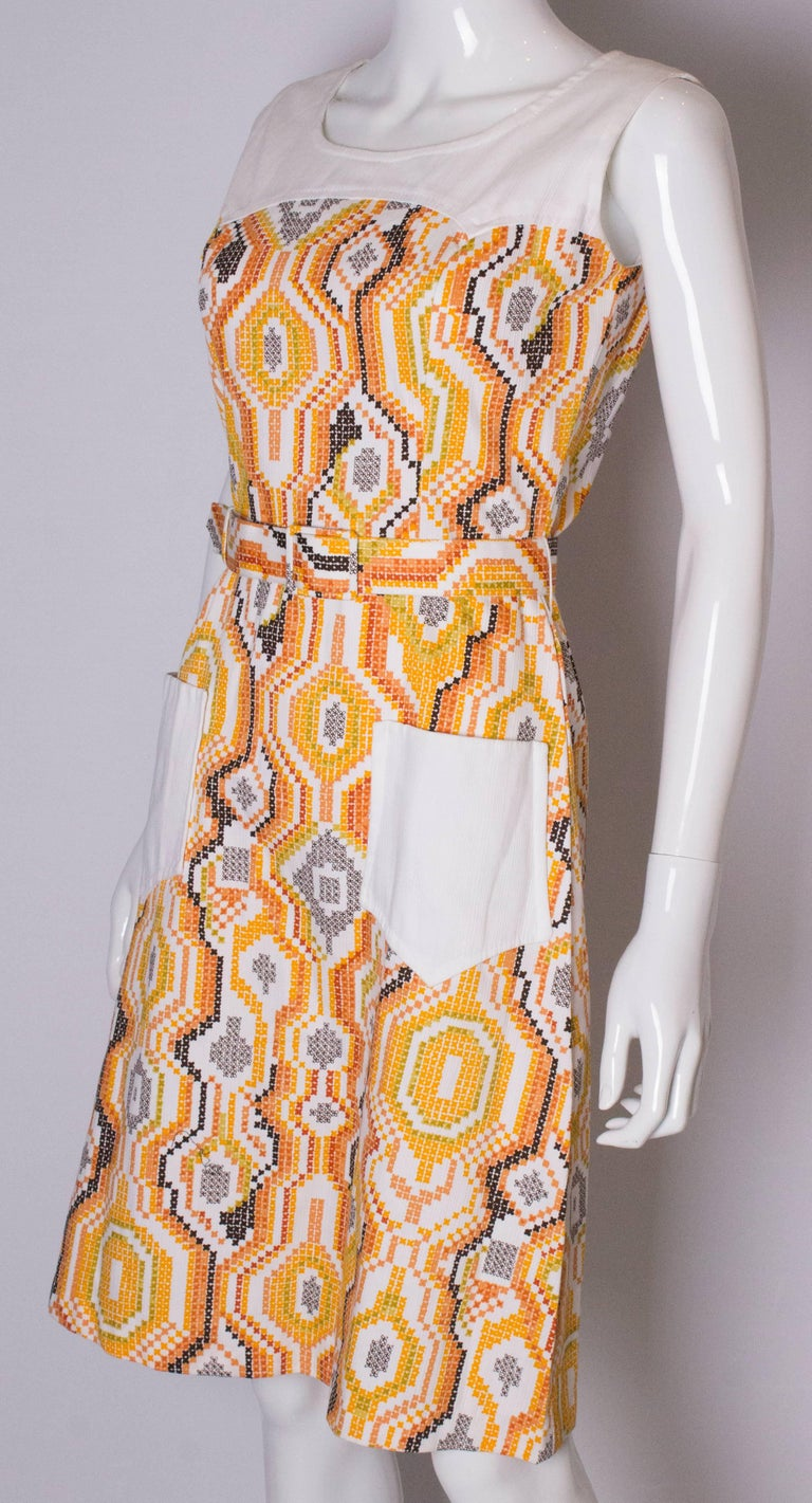 Vintage Summer Dress In Good Condition For Sale In London, GB