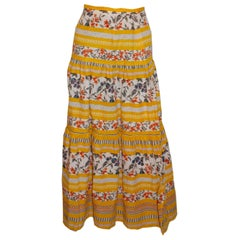 Vintage Summer Tiered Skirt