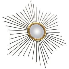 Vintage Sunburst Mirror, 1960s, France