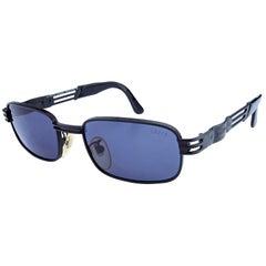 Vintage sunglasses by Lozza, 80s black rectangular designer sunglasses [unworn]