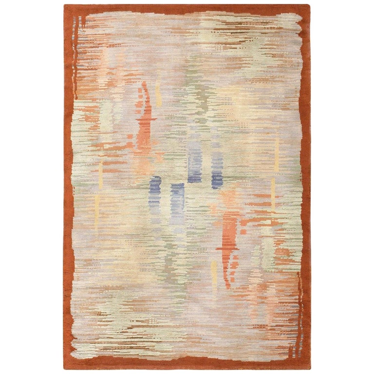 Vintage Surrealist French Art Deco Rug. Size: 5 ft 5 in x 8 ft 1 in For Sale