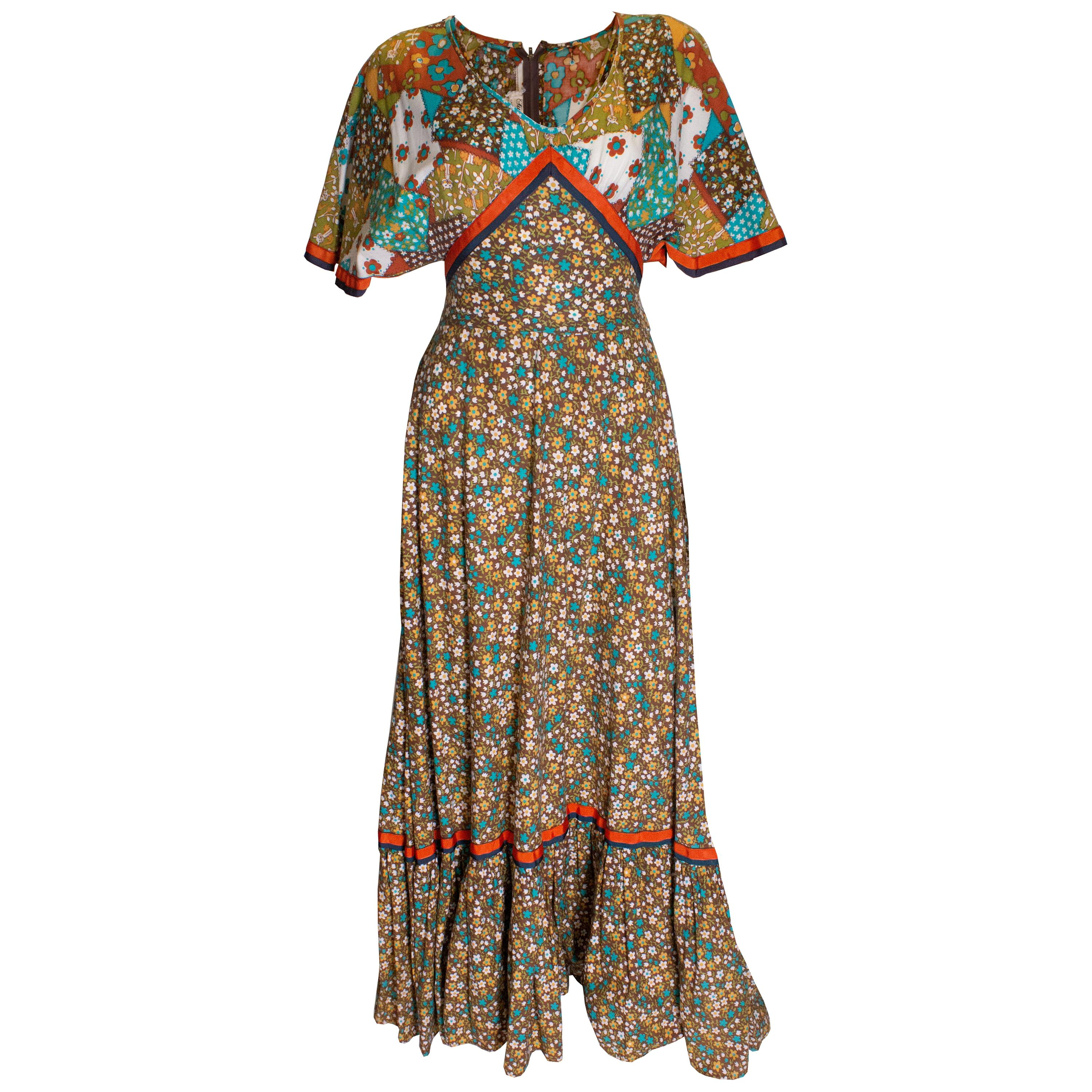 Vintage Susan Small Cotton Summer Gown