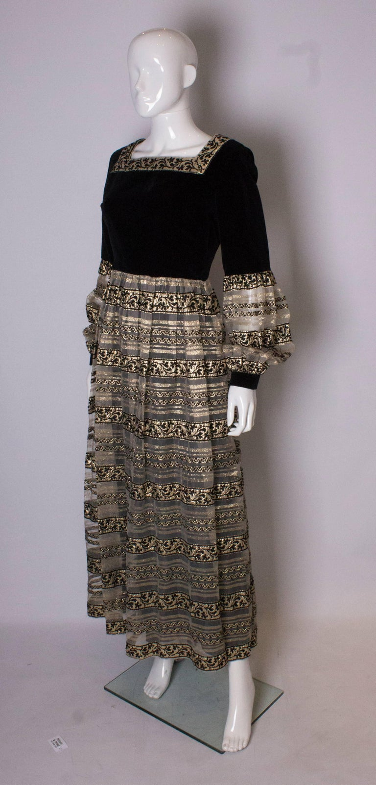 Black Vintage Susan Small Gown For Sale