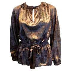 Vintage Susan Small Silk Velvet Top