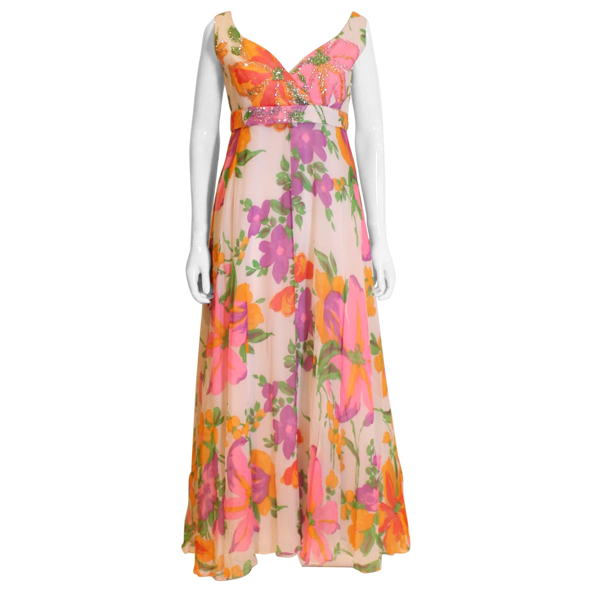 Vintage Susan Small Summer Evening Gown