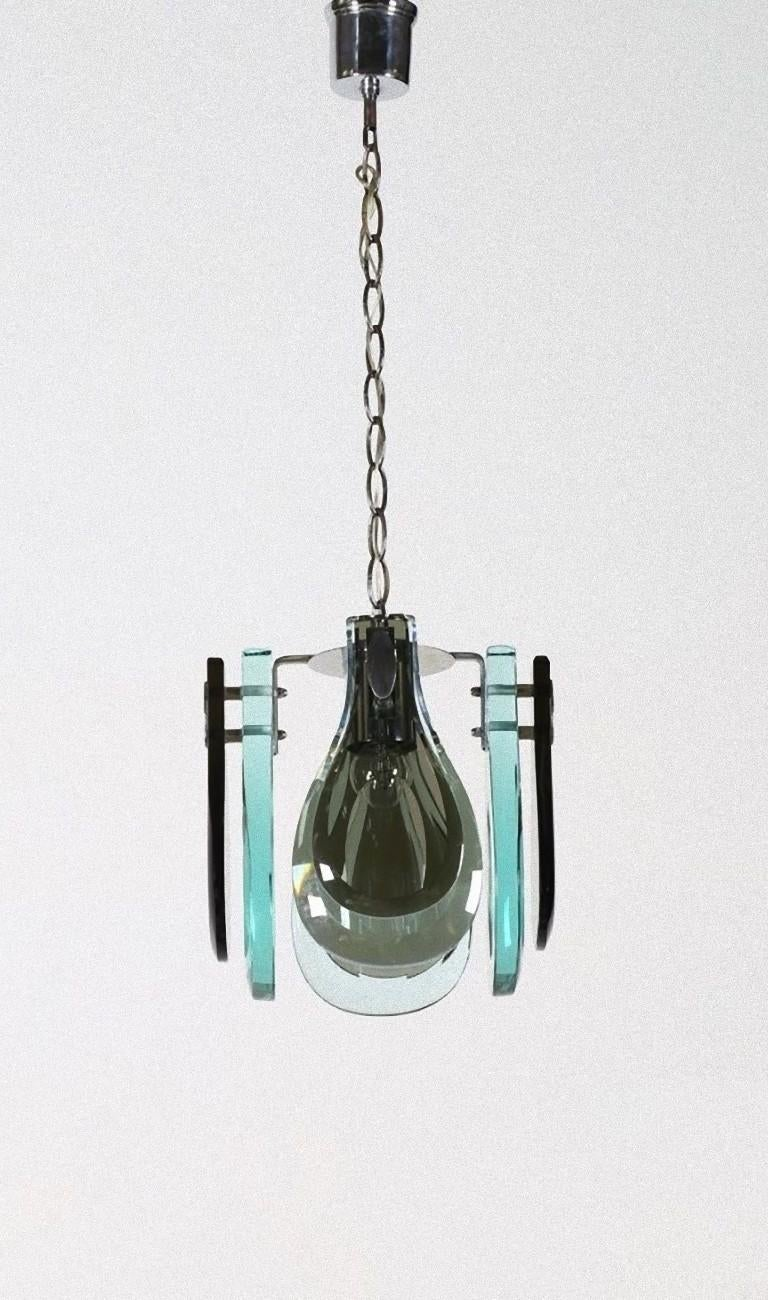 Cast Vintage Suspended Lamp, Italy, 1970s For Sale