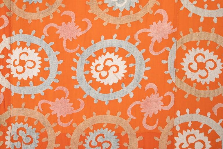 Embroidered Vintage Suzani from Samarkand Uzbekistan, 1960s For Sale