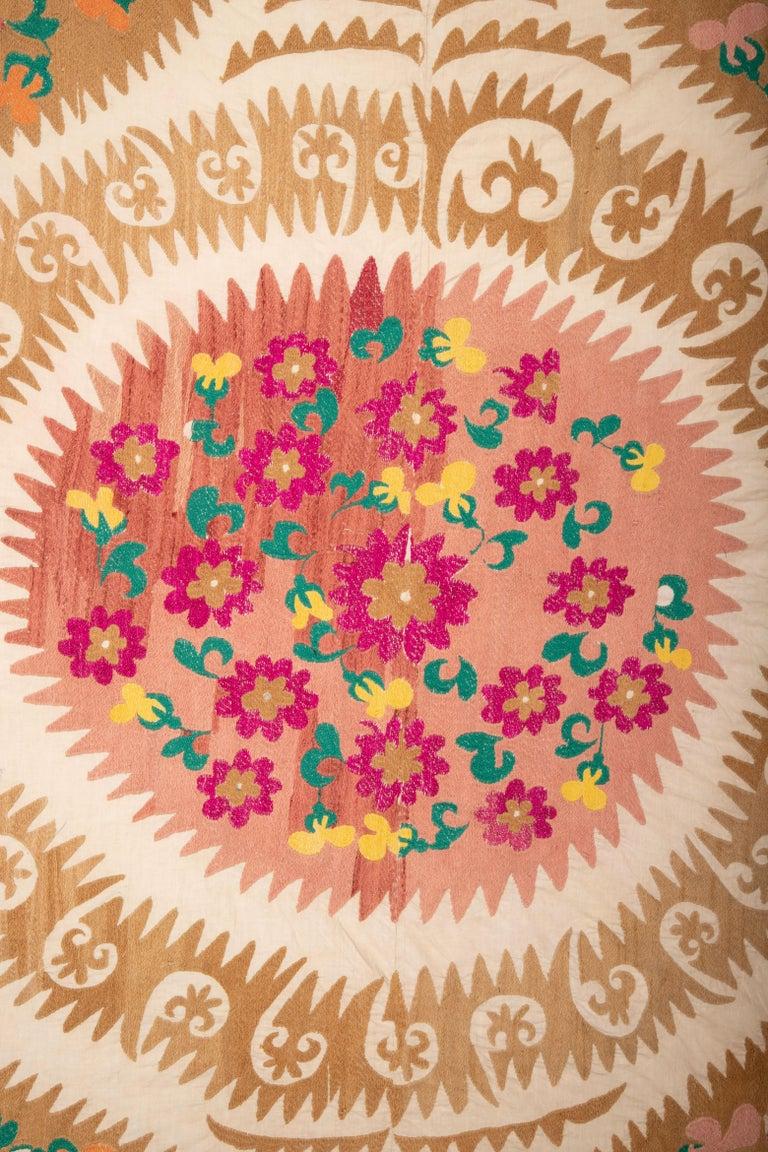 Embroidered Vintage Suzani from Samarkand Uzbekistan, 1970s For Sale